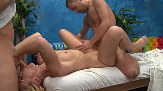 Massage girl taking two