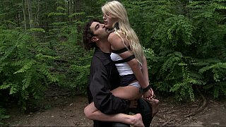 Euro babe gets fucked in the forest