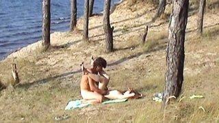 Couple in sex outdoor
