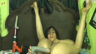 Nikki Ferrari doing weird things with her pussy and ass