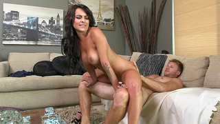 Perfect MILF Kali Kavalli riding the cock reverse cowgirl