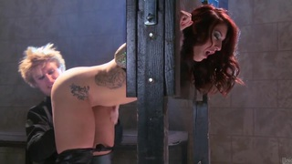 Redhead beauty Mischa Brooks gets her ass drilled