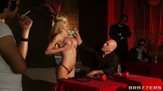 Perv Johnny Sins in the underground club