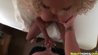 Pervert Josh relishes ebony blondie Tera Redd