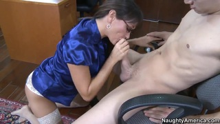 Mature teacher Michelle Lay sucking and fucking Xander Corvus