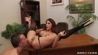Aleksa Nicole is getting hard pounding in the office