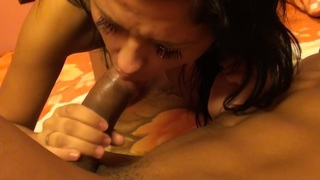 Bella Margo  in blowjob and hard fuck in this amateur hot film