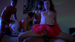Ally & Henessy & Hailey Ariana & Grace C & Malika & Olive & Olympia & Amber Daikiri in amazingly hot bitches fucking in an orgy movie