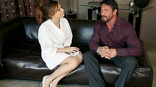 Massage girl with perfect natural tits