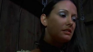 Bounded angel is dripping wet from her torture