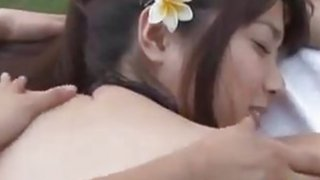 Asian Beauty Gets A Massage