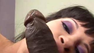 Pleasure  Babe Bouncing On A 12 Inch Black Cock