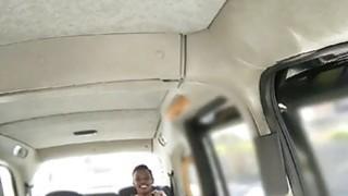 New cab driver fucks her ebony passenger in a quiet spot