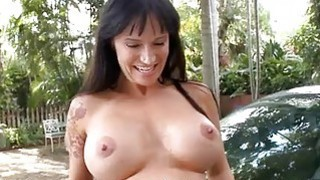 Darling is entralling hunk with moist blow job