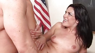 Schoolgirl gets access to a giant mature dick