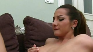 Huge tits woman sucking dick on camera