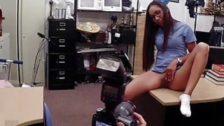 Desperate girl fucked in the backroom