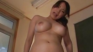 Miho Tsujii plays with pussy and sucks cock