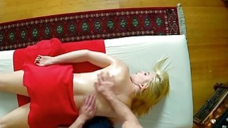Sexy blonde babe Trillium massaged and fucked by her masseur