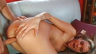 Darling thrills lusty hunk with her dick riding