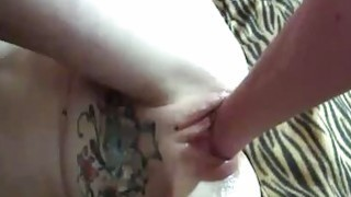 Skinny teen slut fist fucked by two old perverts