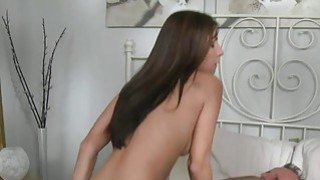 Milf in stockings has morning sex