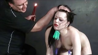Humiliated slave Isabel Deans pegged and punished