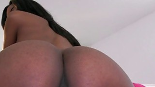 Ebony Teen perfect tits pink tight pussy