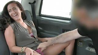 Lady in pink underwear banged by nasty driver in the cab