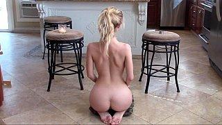 Beautiful sex goddess meditating on the floor