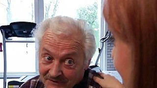 Porn casting for an old man fucking young hot girl