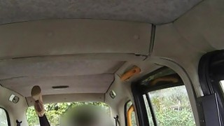 Huge tits Milf fucks in pantyhose in fake cab