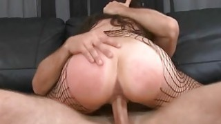 Beauty gets her filthy cleft stretched from behind