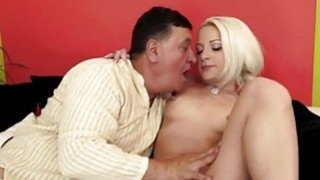 Teen Anastasia Blonde sucks off grandpa