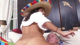 Victoria Valencia loves fucking with 2 old men