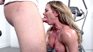 Nina Dolci letting him fuck her face as she gagged on his fat dong