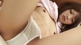 Perverted japanese snatch toying