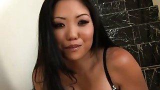 Busty Asian Kayla Lynn Takes Black Cock In Pussy