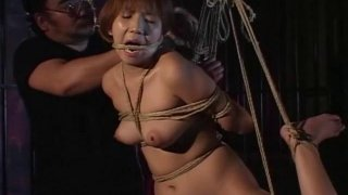 Traditional JAV shibari rope binding schoolgirl