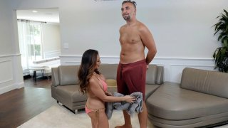 Ariella Ferrera gets mouth and tits fucked by Keiran Lee
