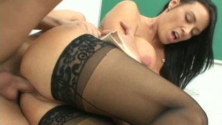 Brunette teacher Vanilla DeVille fucks like crazy