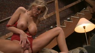 Old fashioned but horny housewife Julia Ann is fucked hard