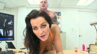 Kinky Nikki gets penetrated with a dildo and a real cock one by one
