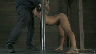 The twat of slut Leilani Leeane gets fucked tough in the BDSM way