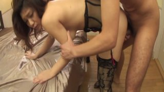 Hot milf Minako Uchida enjoys tough doggy fuck