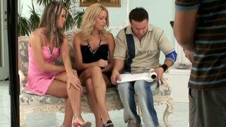 Slutty models Sophie Moone & Trisha Brill masturbate on camera