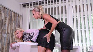 Submissive blonde anal fisted