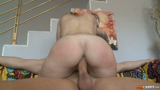 Sex hungry milf rides meety dick in reverse cowgirl pose