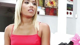 Blonde Teen Ally Berry Gives Deepthroat Blowjob