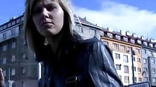 Brunette teen fucked outdoor